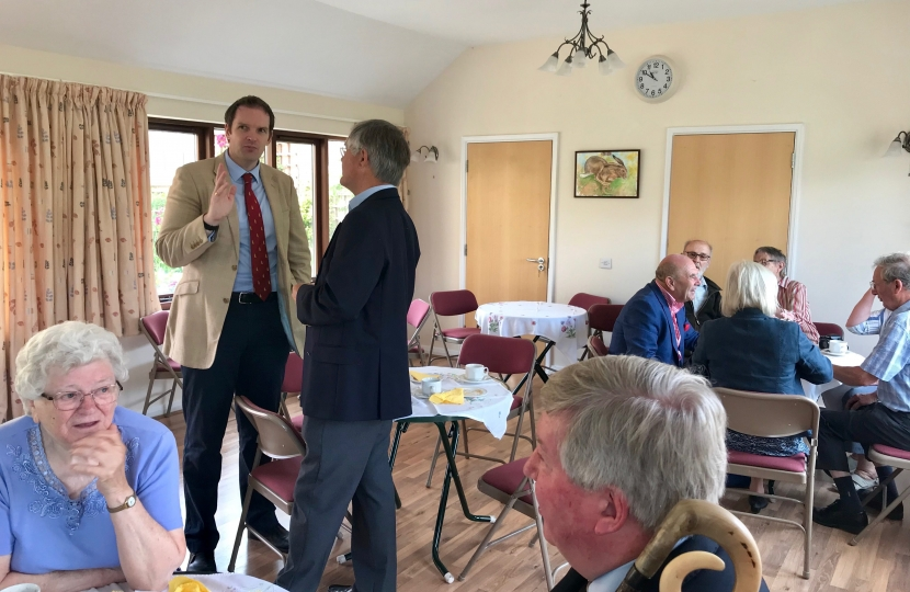 Dr Dan Poulter meets Day Foundation Residents in Coddenham