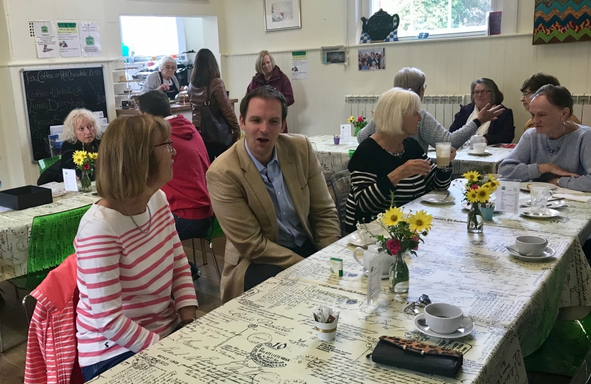 Dr Dan Poulter Stradbroke supports  Friday Friends Dementia Cafe