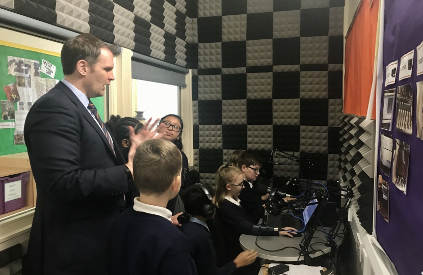 Dr Dan Poulter On Air Beeches Community Primary Radio Station