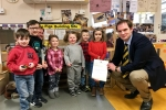 Dan with children at Highfield Nursery