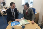 Dr Dan Poulter meets with Suffolk Chamber of Commerce's John Dugmore